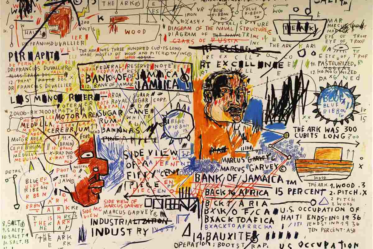 Basquiat american school graffiti andy city 1988