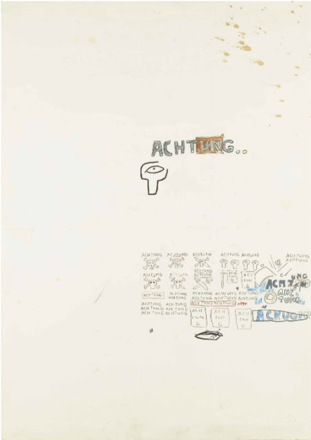 Jean-Michel Basquiat-Achtung-1987