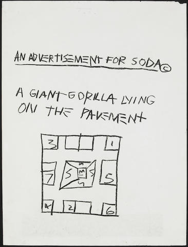 Jean-Michel Basquiat-Advertissement for Soda-1981