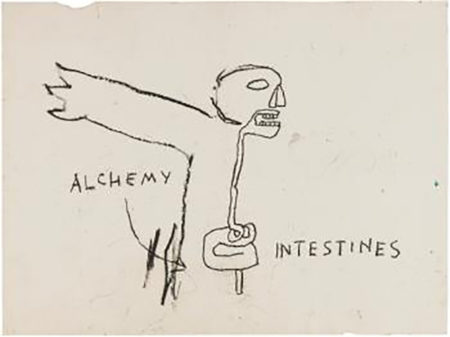 Jean-Michel Basquiat-Alchemy-1985