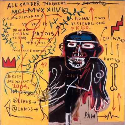 Jean-Michel Basquiat-All Colored Cast II-1982