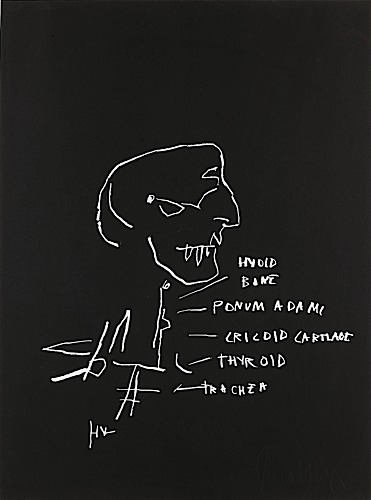 Jean-Michel Basquiat-Anatomy (Hyoid Bone)-1982