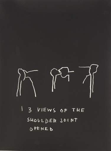 Jean-Michel Basquiat-Anatomy (Shoulder Joint Opened)-1982