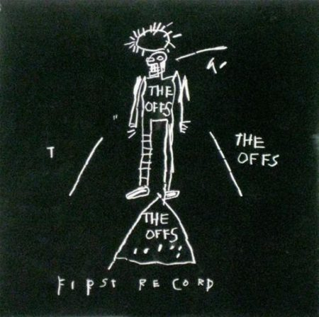 Jean-Michel Basquiat-Basquiat Designed LP cover, The Offs, titled 'First Record-