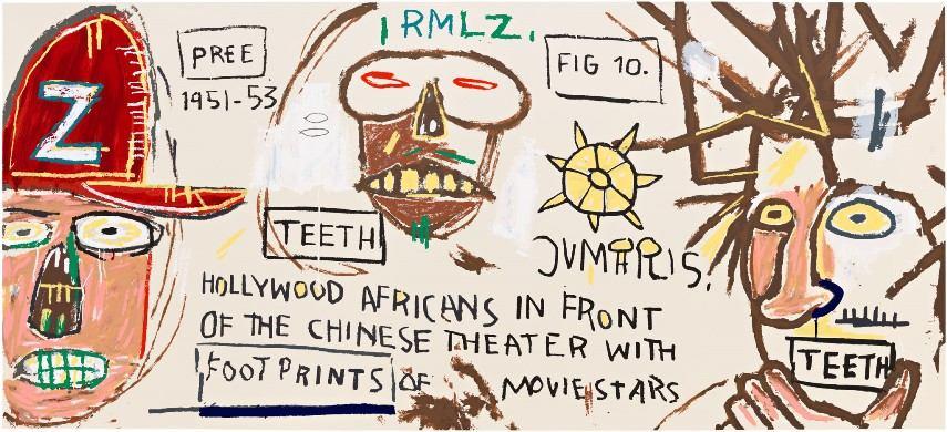 Basquiat Hollywood Africans Jean-Michel Basquiat F...