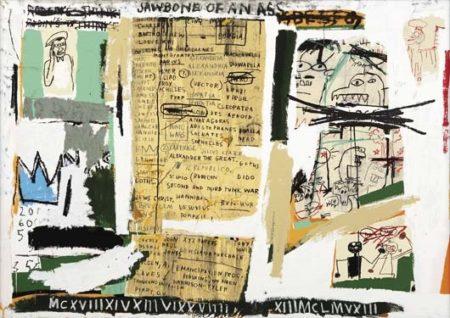 Jean-Michel Basquiat-Jawbone of an Ass-1982
