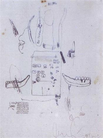 Jean-Michel Basquiat-Louis Armstrong-1985