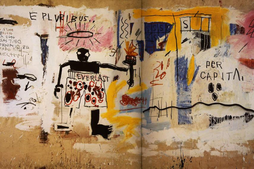 Jean-Michel Basquiat - Per Capita 1981 detail - Image via Wikiart org