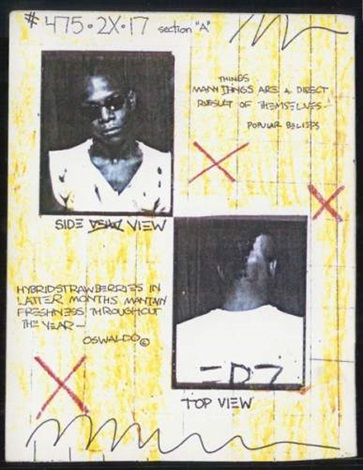 Jean-Michel Basquiat-Postcard - Top View-1980