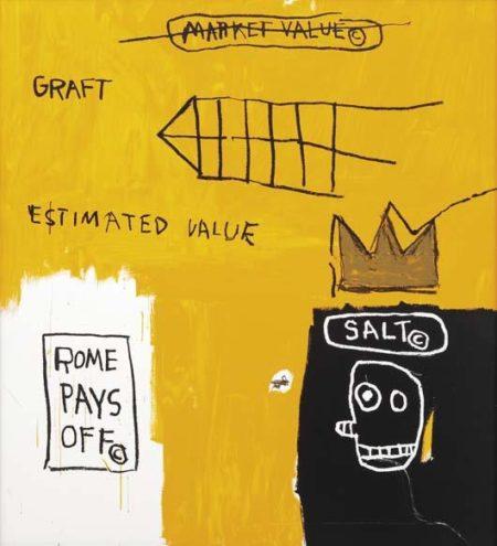 Jean-Michel Basquiat-Rome Pays Off-1984