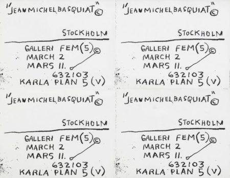 Jean-Michel Basquiat-Untitled (4 Flyers)-1983
