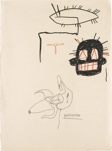 Jean-Michel Basquiat-Untitled (Half Eaten)-1987