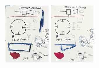 Jean-Michel Basquiat-Untitled (Jet Mixer Ejector)-1985