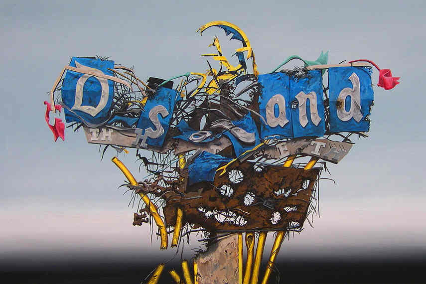The exhibition called Dismaland included new prints made in the privacy of the home gallery