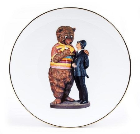 Jeff Koons-Bear and Policeman-2013