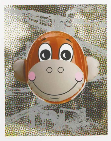 Jeff Koons-Monkey Train (Dots)-2007