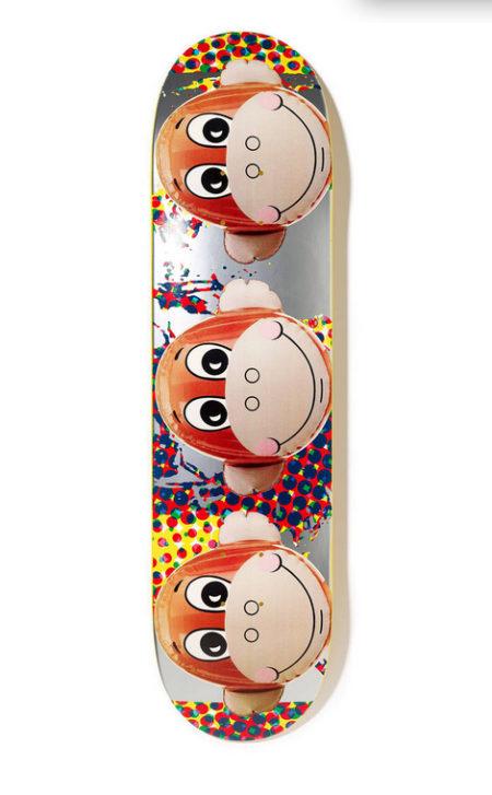 Jeff Koons-Monkey Train Skateboard (Yellow)-2006