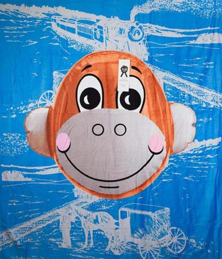 Jeff Koons-Monkey Train towel-2007