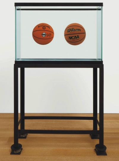 Jeff Koons-Two Ball 50-50 Tank (Spalding Dr.J.Serie, Wilson Supershot)-1985
