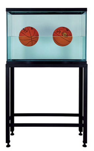 Jeff Koons-Two ball 50-50 tank (Spalding Dr.J 241 series)-1985