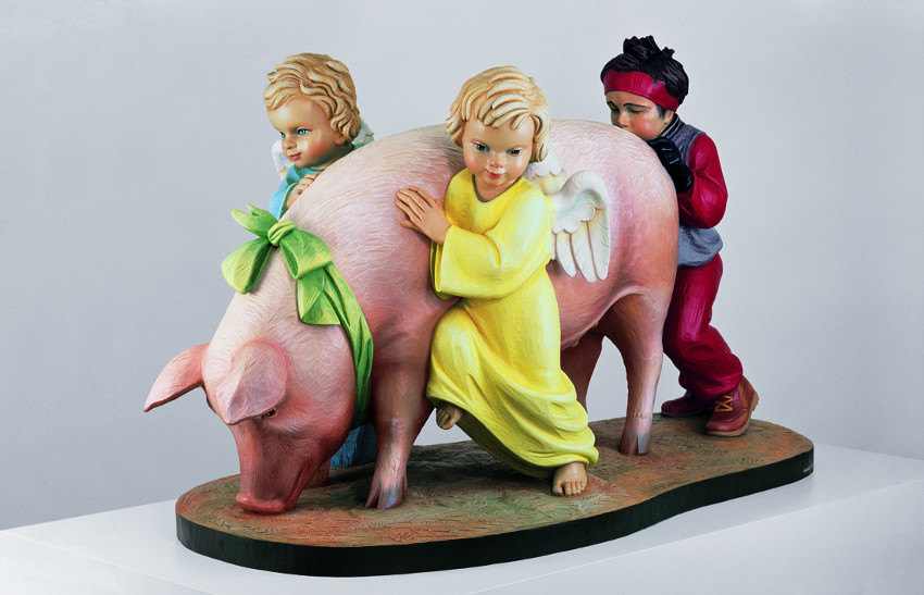 Jeff Koons - Ushering in Banality, 1988 (detail), american video gallery