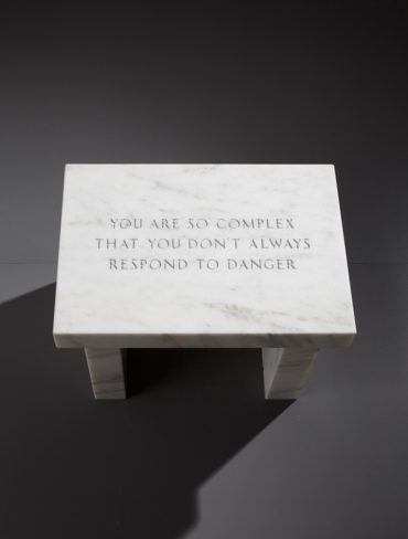 Jenny Holzer-Selections from Survival: You Are So Complex that You Don't Always Respond to Danger-2006