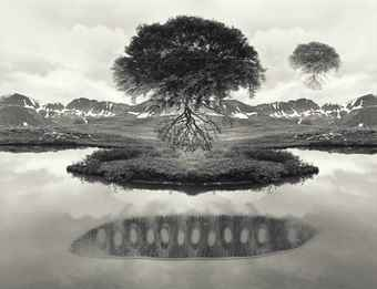Jerry Uelsmann-Untitled, (Floating Trees)-1969