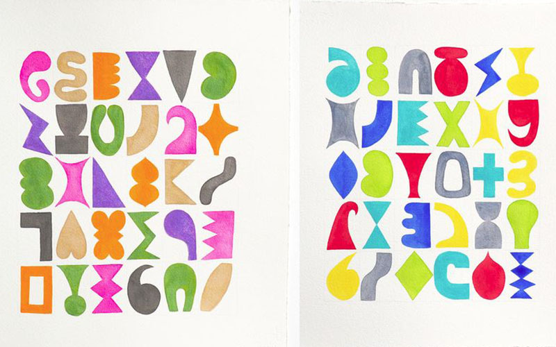 Jessica Snow - Thirty Shapes 1 and 2, 2015