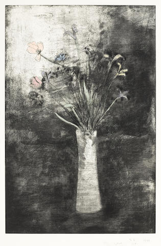 Jim Dine-Hand Colored Flowers-1977