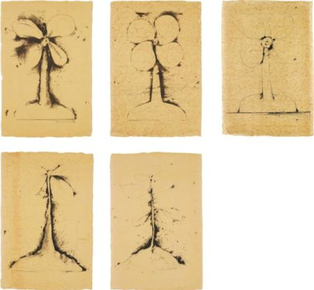 Jim Dine-Lithographs of the Sculpture: The Plant Becomes a Fan; Sledgehammer and Axe-1975