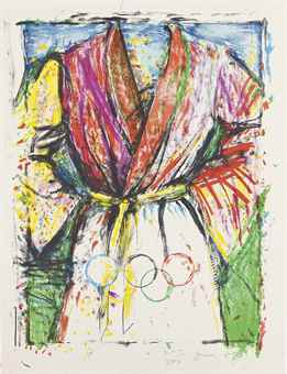 Jim Dine-Olympic Robe, from Official Arts Portfolio of the XXIVth Olympiad, Seoul, Korea-1988