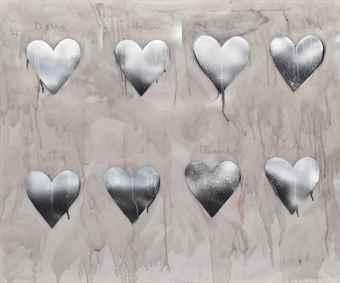 Jim Dine-Silver Hearts-1970