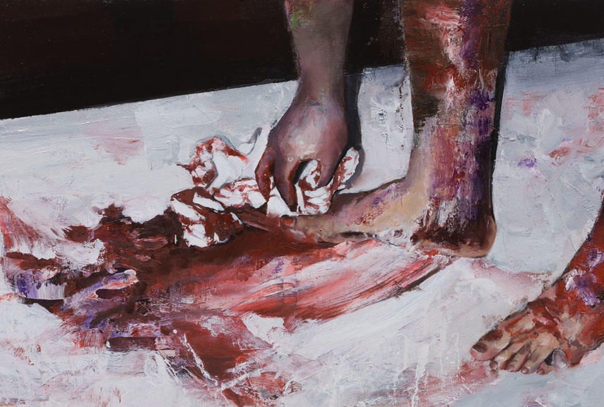 Jisan Ahn - Foot washing, 2015