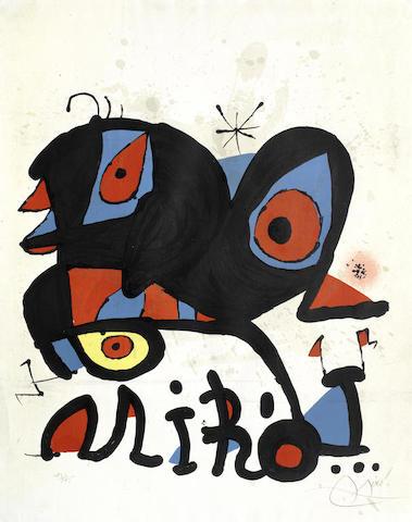Joan Miro-Affiche pour L'Exposition Miro, Louisiana Humelbaeck-1974