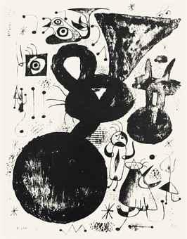 Joan Miro-Barcelona XLI, from Barcelona Series-1944