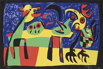 Joan Miro-Chien aboyant a la lune-1952