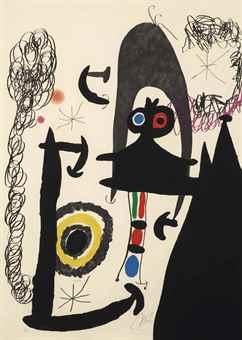 Joan Miro-Escalade vers la lune-1969