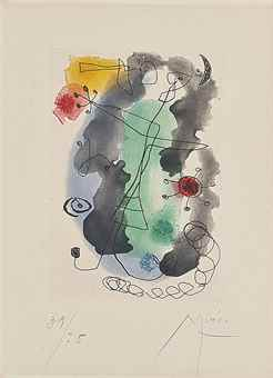 Joan Miro-Femme en Colere-1958