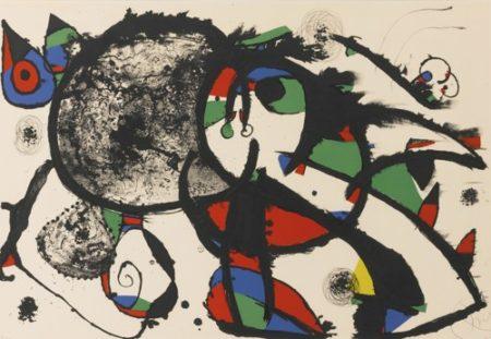Joan Miro-Hommage A Masson (Mourlot 1111)-1977