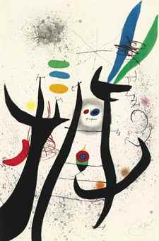Joan Miro-L'Aigrette Rouge-1976