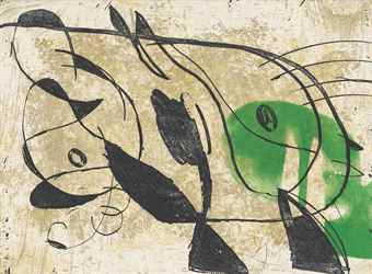 Joan Miro-La Commedia dell'arte IV-1979
