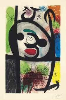 Joan Miro-La Femme Toupie-1974