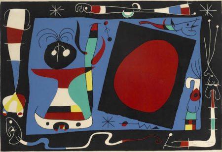 Joan Miro-La Femme au Miroir-1956