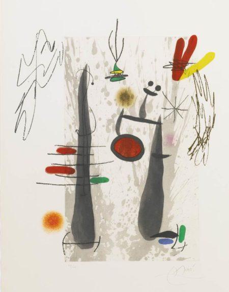 Joan Miro-La Longue Et L'Evaporee-1973