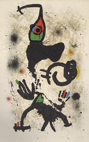Joan Miro-Le pecheur d'eponges-1971