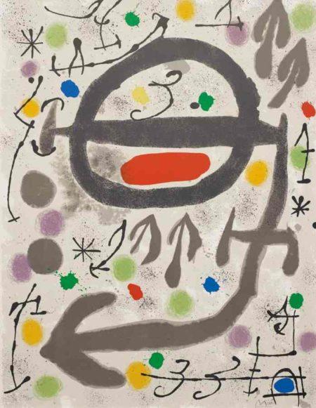 Joan Miro-Les perseides: plate 2-1970