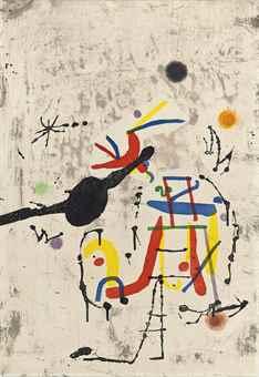 Joan Miro-Personatge I Estels IV-1979
