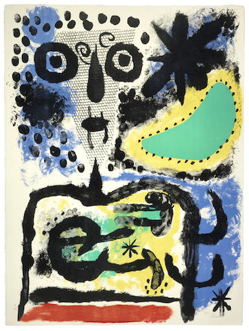 Joan Miro-Personnage nuageux-1955