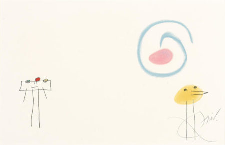 Joan Miro-Pl. IV, from L'enfance d'Ubu-1975