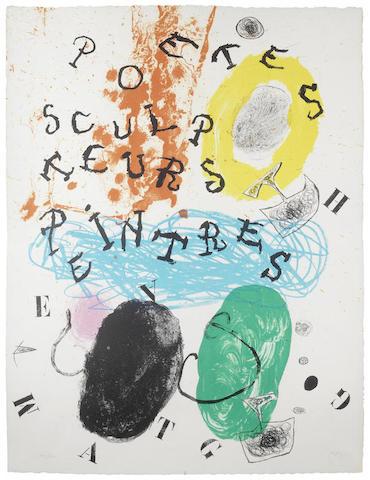 Joan Miro-Plate 17, from Album 19-1961